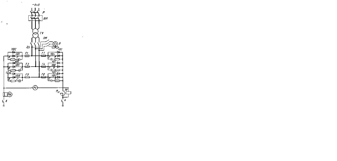 схема бесконтактного пускателя с плавным пуском